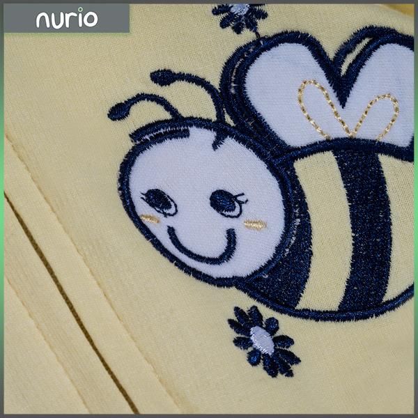 Hanorac galben cu albina si floare 2