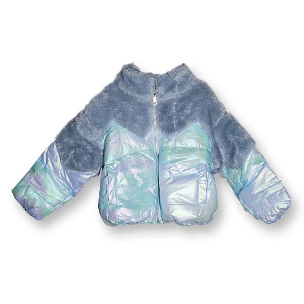 Jachetă Lucioasă cu Puf 0