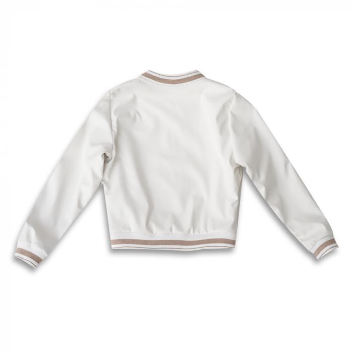 Jachetă Scurtă Cu Efect De Piele Culoare Alb 1