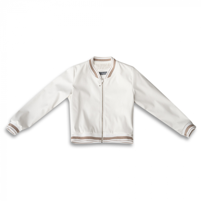 Jachetă Scurtă Cu Efect De Piele Culoare Alb 0