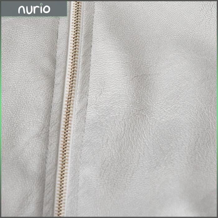 Jachetă Scurtă Cu Efect De Piele Culoare Argintiu [5]