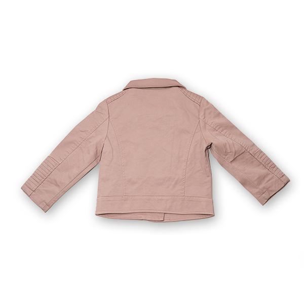 Jachetă Scurtă Cu Efect De Piele Culoare Roz Pudră 6