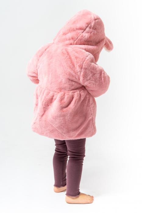 Jachetă din Imitație de Blană cu Glugă 9