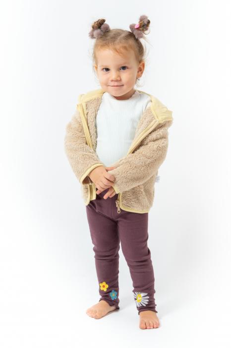 Jachetă fleece cu gluga 2