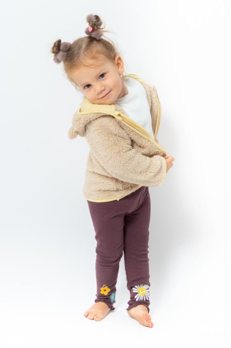 Jachetă fleece cu gluga 1