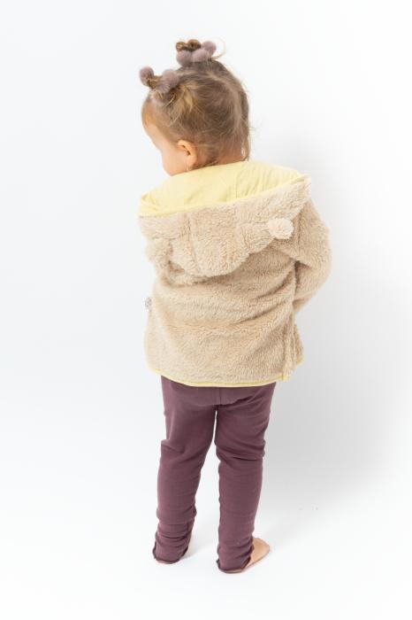 Jachetă fleece cu gluga 3