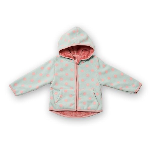 Jachetă groasa fleece cu gluga 0