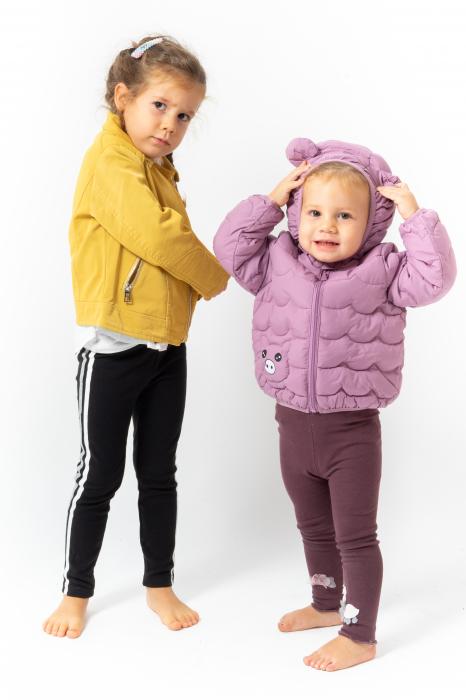 Jachetă Scurtă Cu Efect De Piele Culoare Galben 1