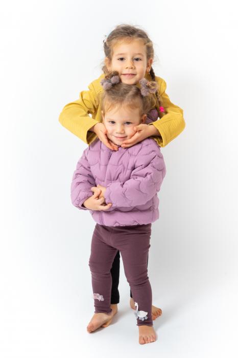 Jachetă Scurtă Cu Efect De Piele Culoare Galben 4