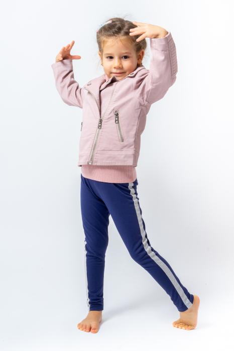 Jachetă Scurtă Cu Efect De Piele Culoare Roz Pudră 1