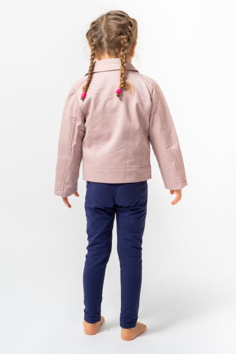 Jachetă Scurtă Cu Efect De Piele Culoare Roz Pudră 4