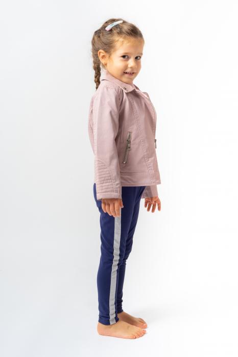 Jachetă Scurtă Cu Efect De Piele Culoare Roz Pudră 3