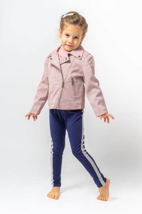 Jachetă Scurtă Cu Efect De Piele Culoare Roz Pudră 0