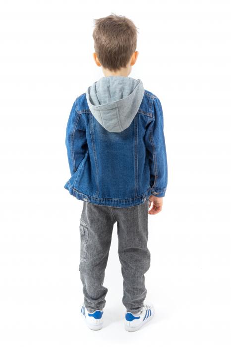 Jachetă Scurtă Din Denim Cu Glugă [3]