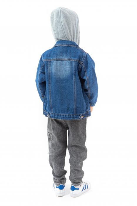 Jachetă Scurtă Din Denim Cu Glugă [4]