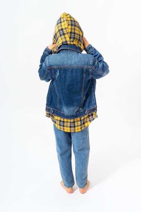 Jachetă Scurtă Din Denim Tip Cămașă 2