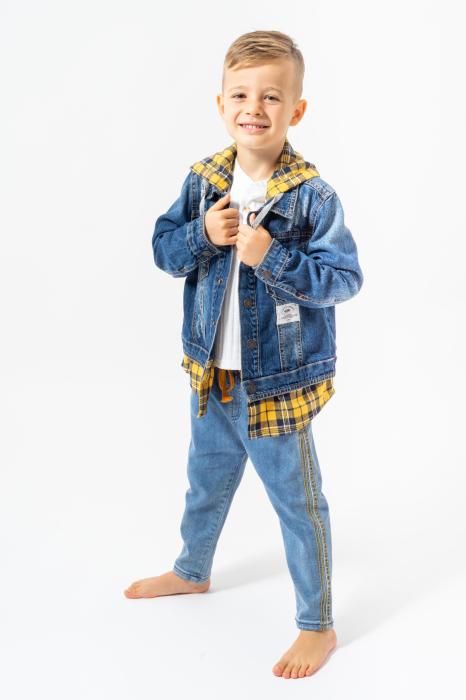 Jachetă Scurtă Din Denim Tip Cămașă 0