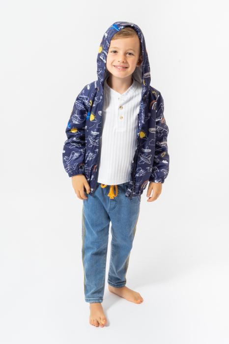 Jachetă subtire cu gluga 1