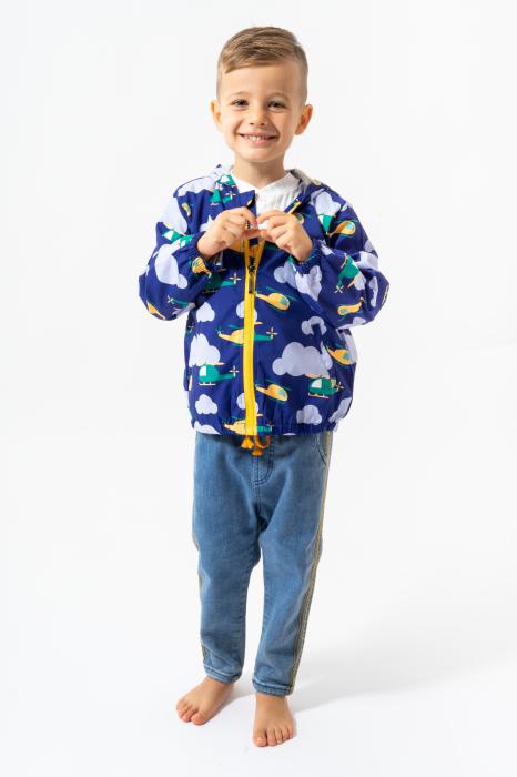 Jachetă subtire cu gluga 2