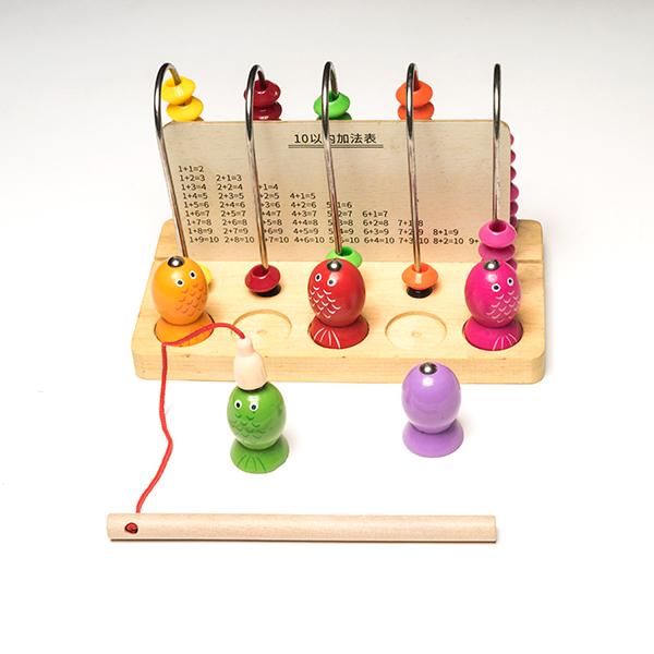 Joc din lemn 2 in 1 -  abac si pescuit magnetic 1