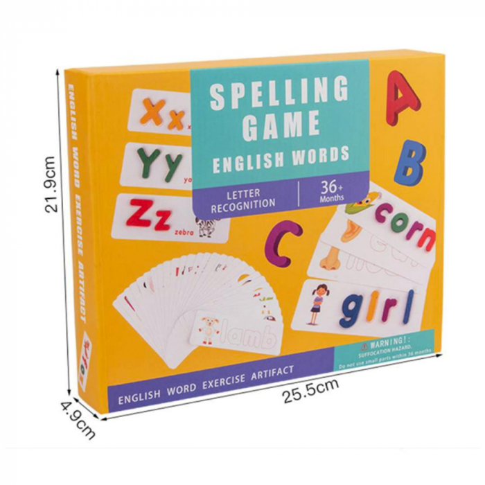 Joc din lemn cu carduri si litere in engleza 3