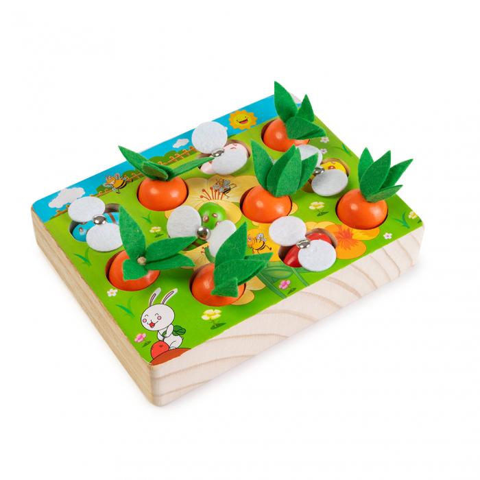 Joc din lemn cu ridichi si albinute 1