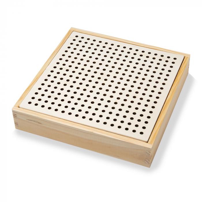 Joc din lemn de indemanare si memorie cu bile tip ciupercute 3