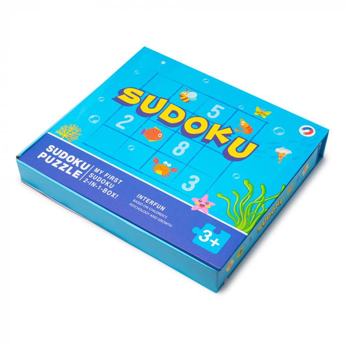 Joc multifunctional 2 in 1 din lemn - sudoku [4]
