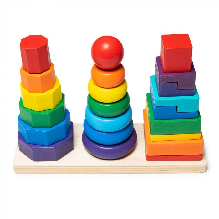 Jucarie din lemn - potrivire 3 forme geometrice 1