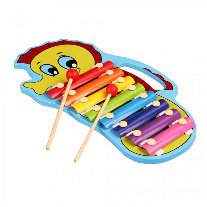 Jucarie din lemn xilofon cu maner [0]