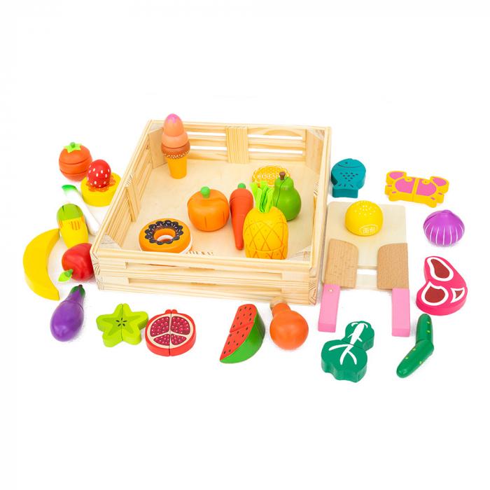 Ladita cu alimente din lemn-30 piese 1