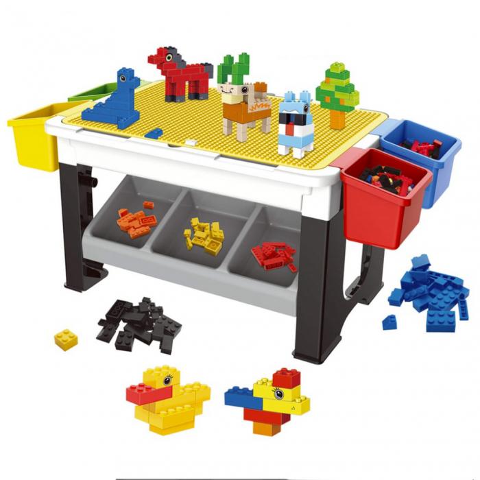 Masa multifunctionala - lego și birou pentru copii 1