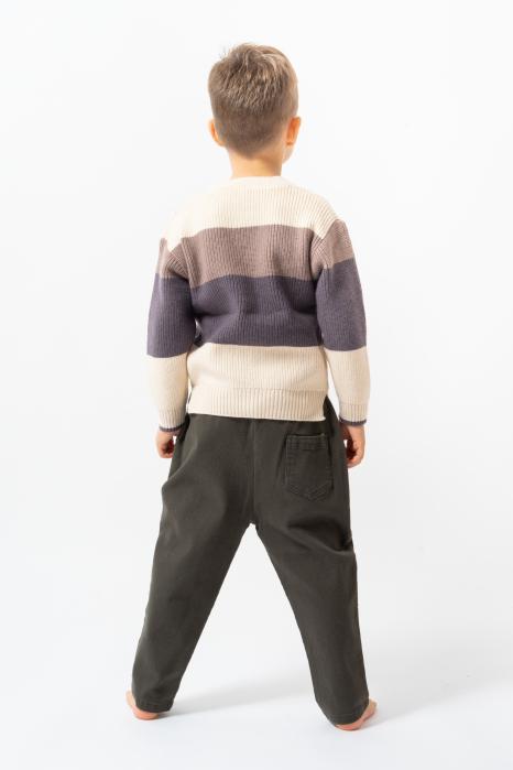 Pantalon lung culoare kaki 4