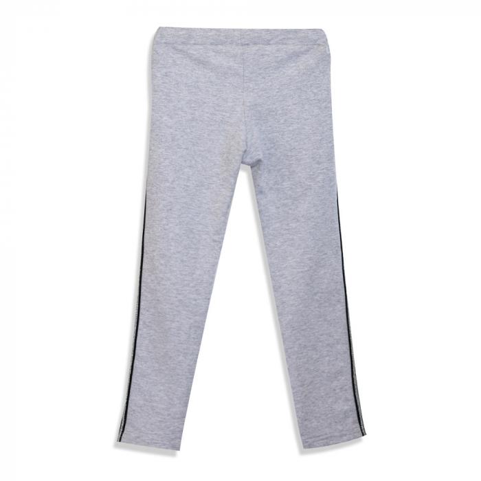 Pantalon Lung din Bumbac cu Dungi Contrastante [1]