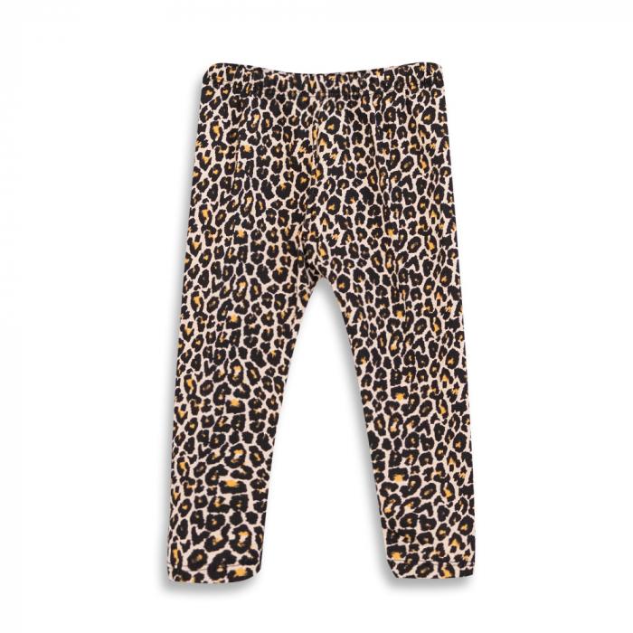 Pantalon tip legging cu imprimeu animal print 0