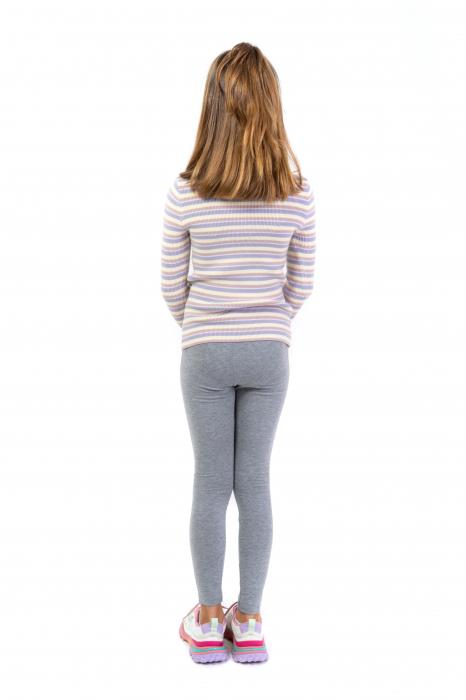 Pantalon tip legging cu dungi contrastante [4]