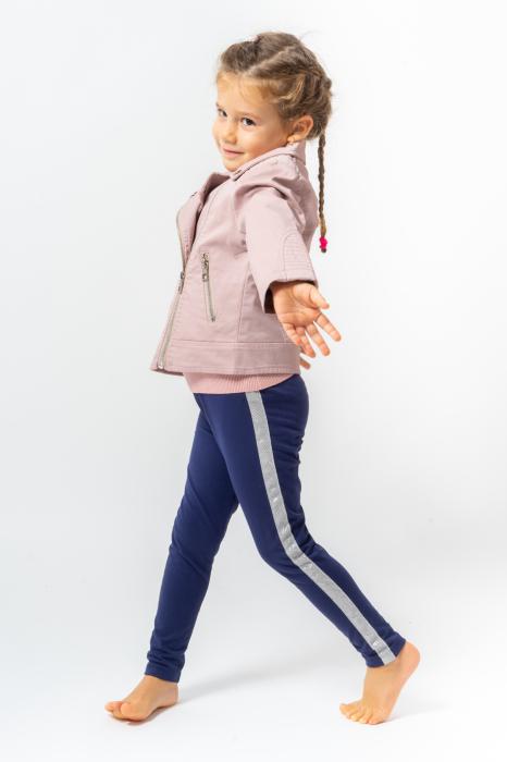 Pantalon tip legging cu dungi contrastante [1]
