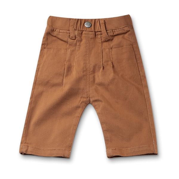 Pantaloni trei sferturi maro 0