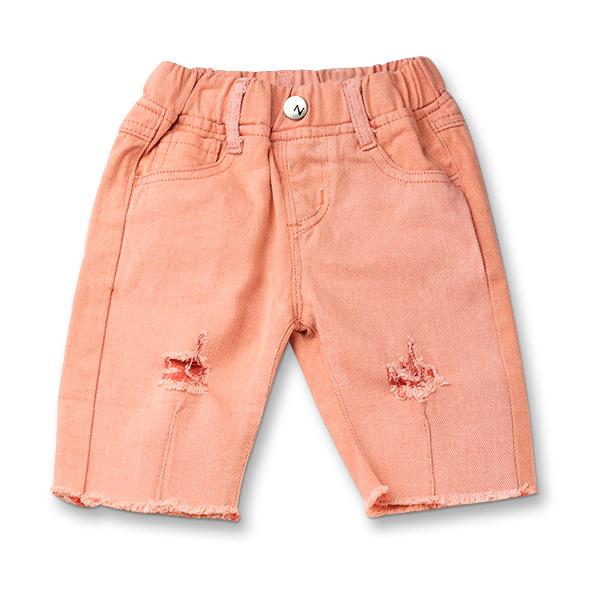 Pantaloni trei sferturi culoarea piersicii 0