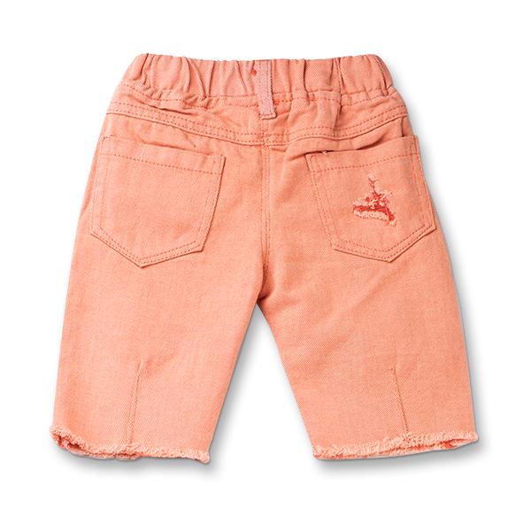 Pantaloni trei sferturi culoarea piersicii 1