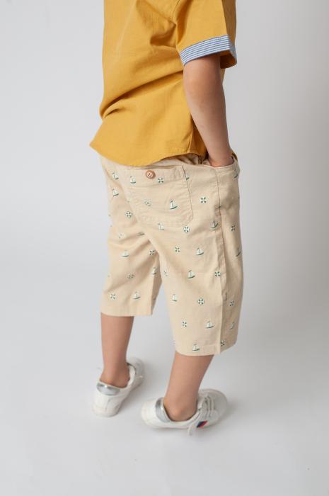 Pantaloni cu imprimeu barcute 2