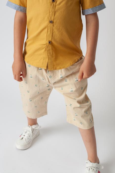 Pantaloni cu imprimeu barcute 1