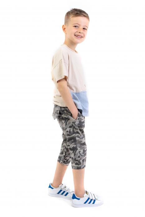 Pantaloni din  bumbac cu imprimeu camuflaj [1]