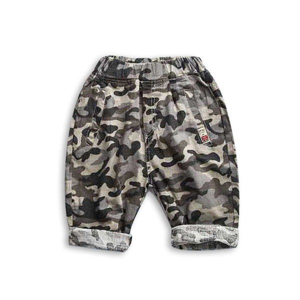 Pantaloni din  bumbac cu imprimeu camuflaj [5]