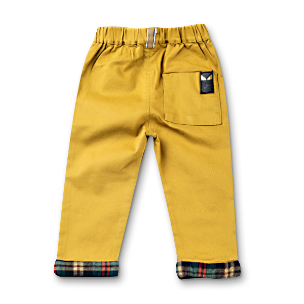 Pantaloni cu manseta in carouri 6