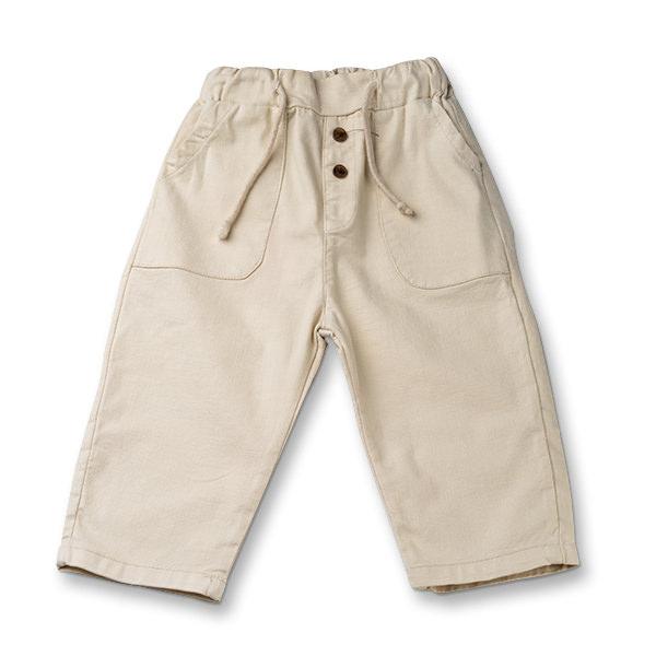 Pantaloni in bej cu snur baieti 0