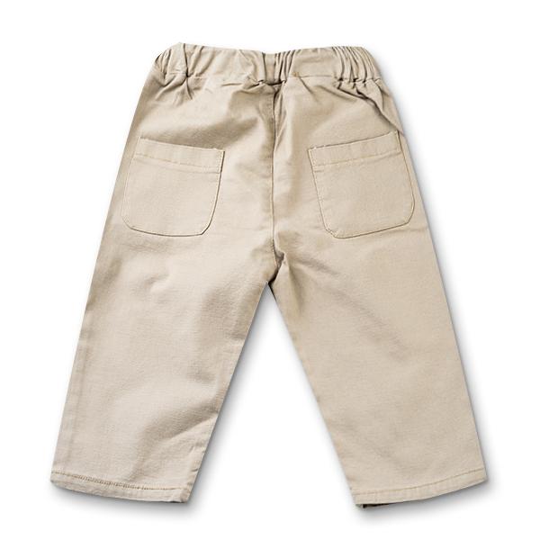 Pantaloni in bej cu snur baieti 4