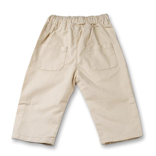 Pantaloni in bej cu snur baieti 1