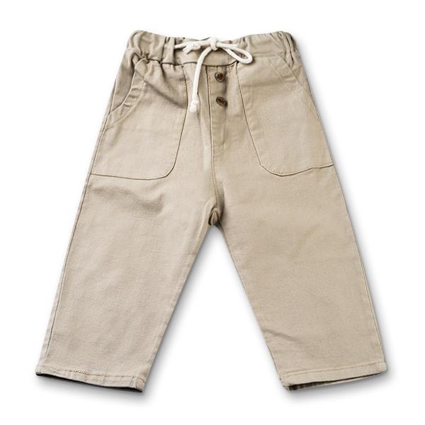 Pantaloni in bej cu snur baieti 3