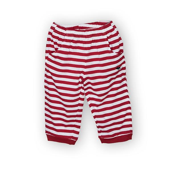 Pantaloni jogger trei sferturi cu dungi 0